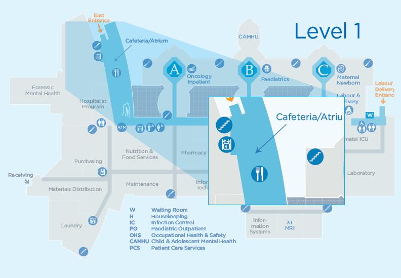 TBRHSC Map Link - Cafeteria