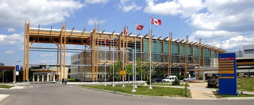 Thunder Bay Regional Health Sciences Centre Front Entrance