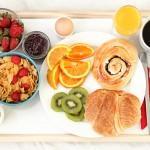 A healthy breakfast on a tray