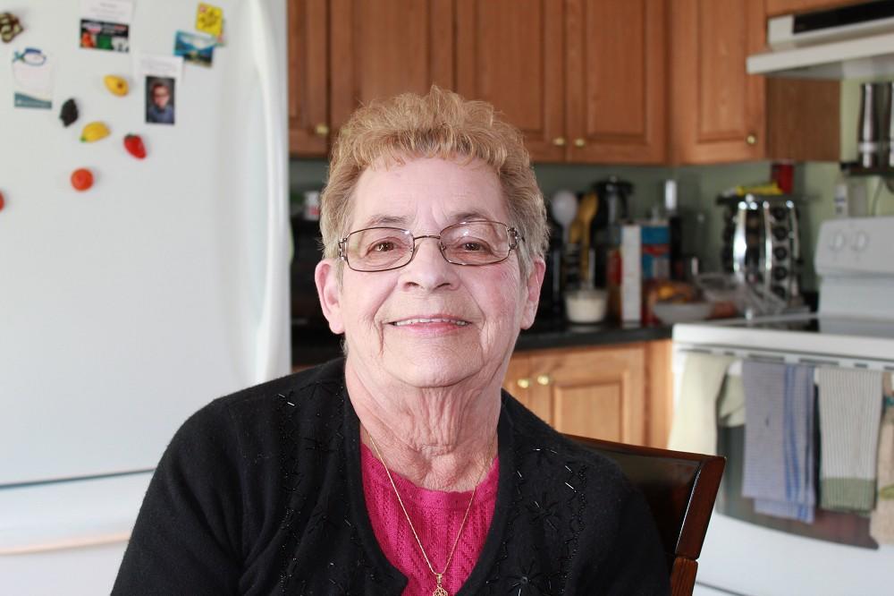 Rita Leclarc bust shot in kitchen