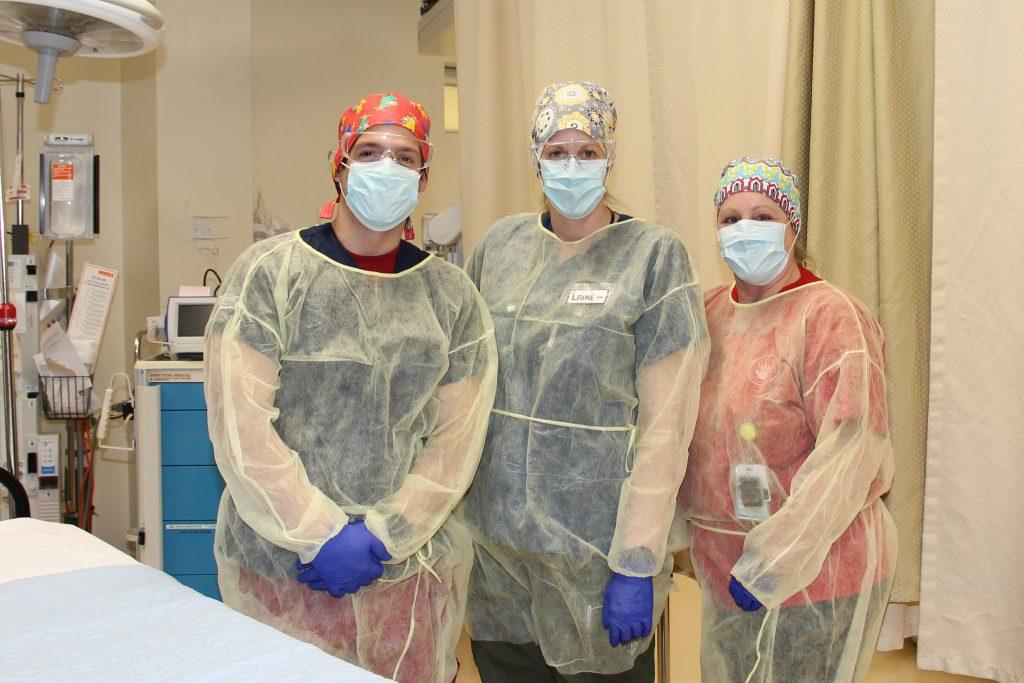Nurses wearing PPE