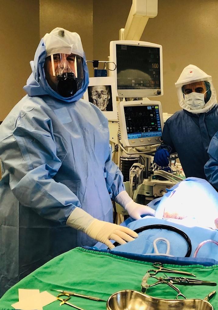 Dr. Bruce Pynn (left) and Dr. Yasser Labib, Anesthesiologist.